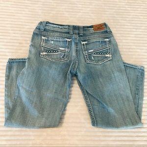 BKE Payton Curvy Straight Crop Denim Jeans Capris